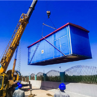 国盛信息产业园315KVA施工箱变用电安装工程